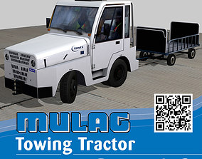 3D asset animated Mulag Comet 6 Towing tractor