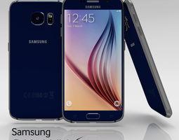 3D model Samsung Galaxy S6 Sapphire Black