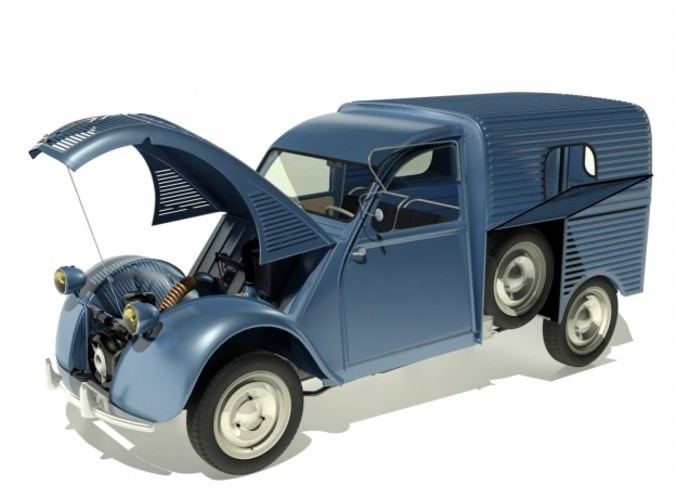 1958 citroen 2cv azu van 3d model max