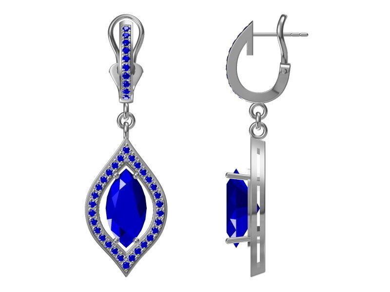 diamond earrings model - photo #2