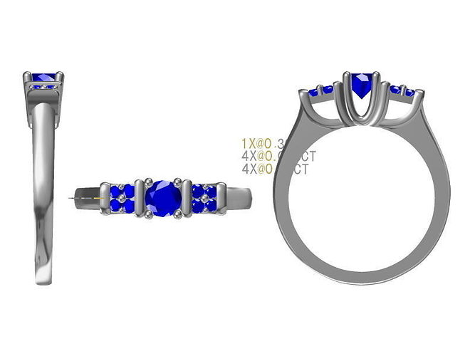diamond ring 1628 3d model jcad jcd 1