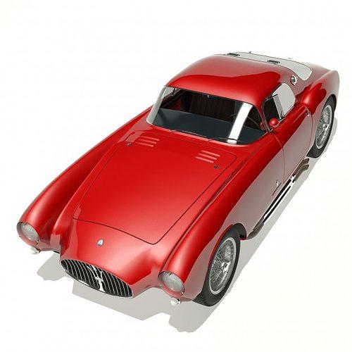 1953 maserati a6 gcs 53 pininfarina berlin... 3d model max 5