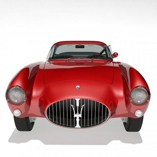 1953 maserati a6 gcs 53 pininfarina berlin... 3d model max 6