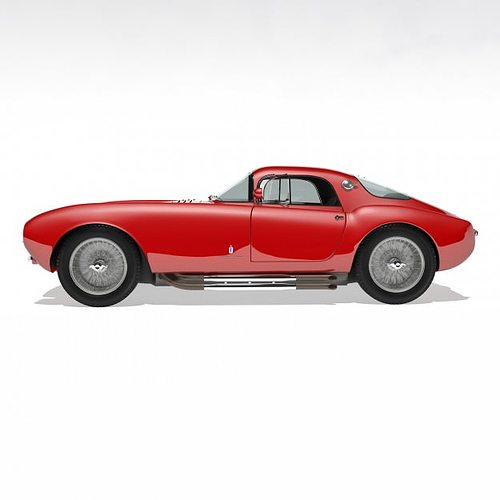 1953 maserati a6 gcs 53 pininfarina berlin... 3d model max 11