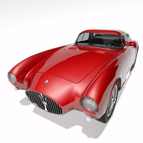 1953 maserati a6 gcs 53 pininfarina berlinetta 3d model max obj fbx 1