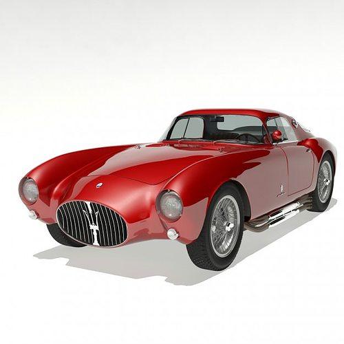 1953 maserati a6 gcs 53 pininfarina berlin... 3d model max 4