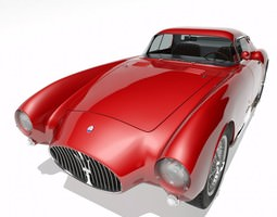 1953 Maserati A6 GCS 53 Pininfarina Berlinetta 3D Model