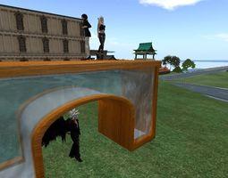 Fish-tank Archway 3D asset