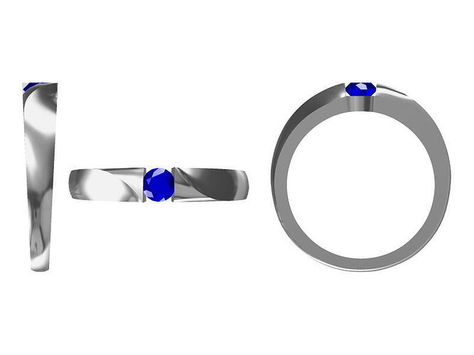 diamond ring 1697 3d model jcad jcd 1