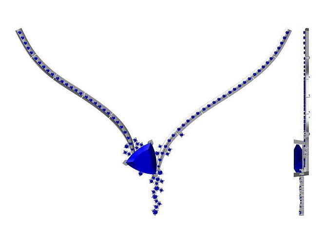 diamond necklace 1776 3d model jcad jcd 1