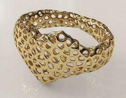 Voronoi Heart Bracelet 3D Model