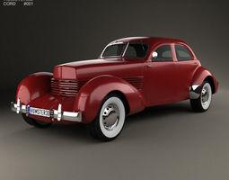 3D Cord 810 Westchester sedan 1936