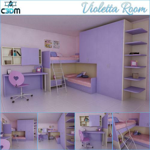 Violetta Kids Children Room3D model