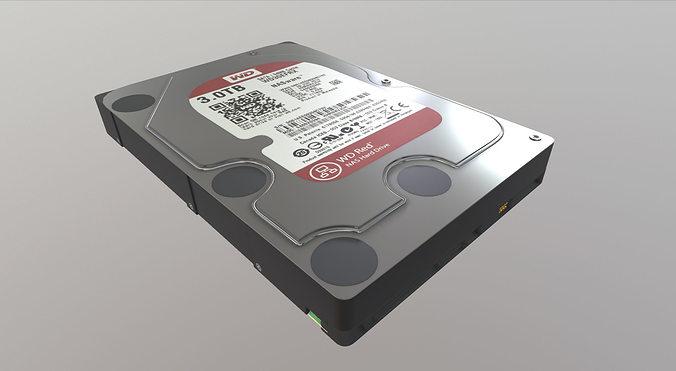 western digital wd30efrx 3d model max fbx 1