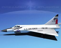 Convair F-102 Delta Dagger IND ANG 3D Model
