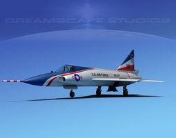 Convair F-102 Delta Dagger V06 USAF 3D Model