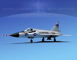Convair F-102 Delta Dagger SC ANG 3D Model