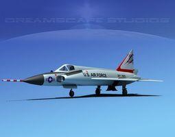 Convair F-102 Delta Dagger V11 USAF 3D Model