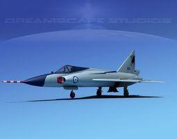 Convair F-102 Delta Dagger HAF 3D Model