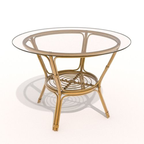 Rattan-glass table3D model