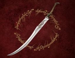 3d asset elf sentry sword low-poly