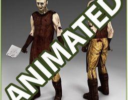 Zombie Butcher 3D Model