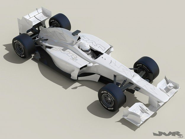 generic f1 2013 race car 3d model max obj 3ds fbx mtl pdf 1
