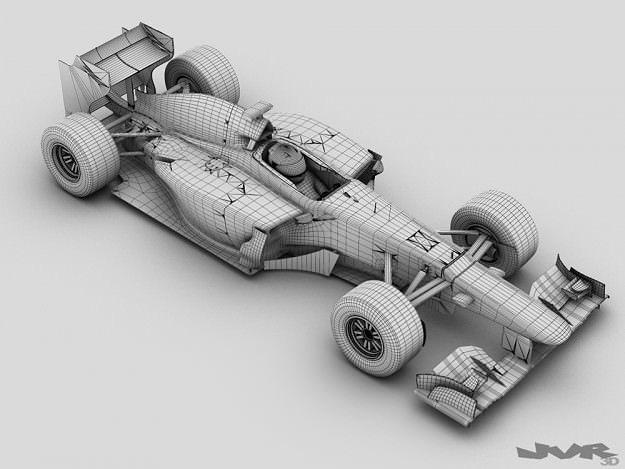 Generic F1 2013 Race Car 3d Cgtrader