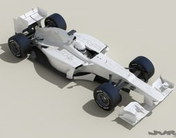 Generic F1 2013 Race Car 3D Model