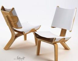 3D model Kurven Chair