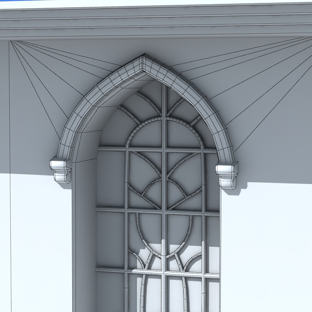 Stained glass window 3d model max for Window 3d model