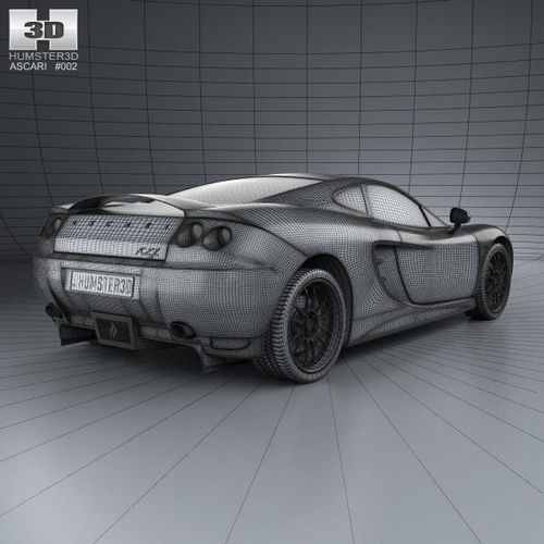 Ascari KZ1 2003 3D Model .max .obj .3ds .fbx .c4d .lwo .lw