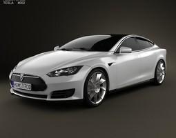 tesla model s 2012 3d