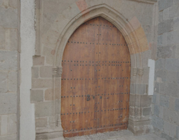 3d church side door - hd scan