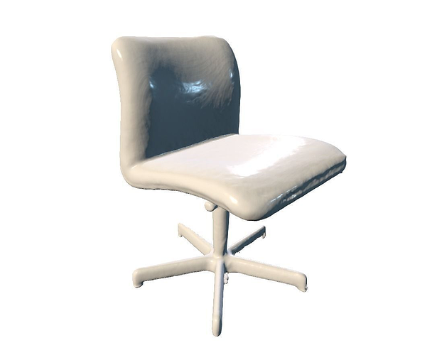 desktop chair 3d model obj stl mtl 1