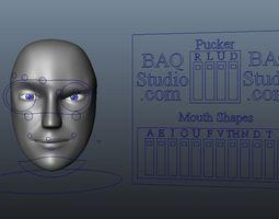 Robot Head Rig 3D Model