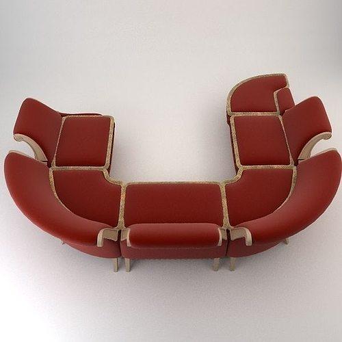 ... baroque antique sofa 3d model max obj 3ds fbx mtl 7 ... - 3D Baroque Antique Sofa CGTrader