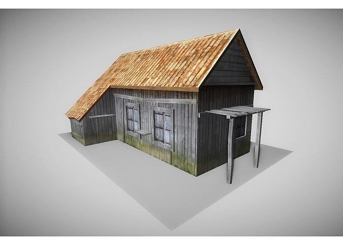 old house 3d model low-poly obj mtl 3ds fbx lwo lw lws hrc xsi blend 1