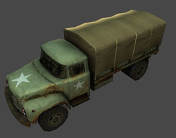 low-poly army truck   3d model