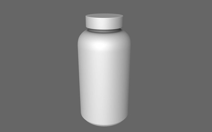 can pills medicine 3d model obj 1