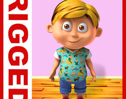 3D Boy cartoon rigged 05