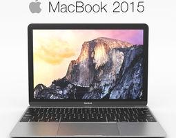 3D Apple MacBook 2015