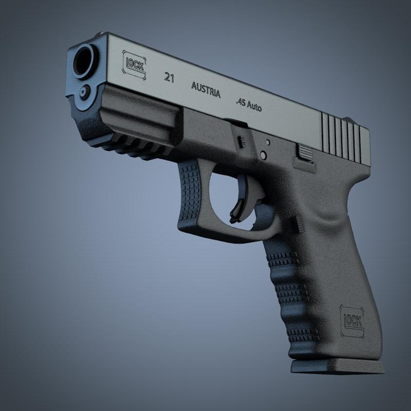 3D Design Handgun CGTradercom