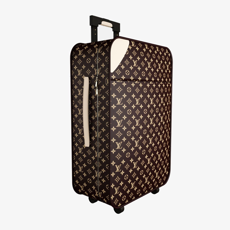 louis vuitton luggage bag 3d model max obj fbx. Black Bedroom Furniture Sets. Home Design Ideas