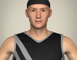 Realistic Male Basketball Player 3D Model