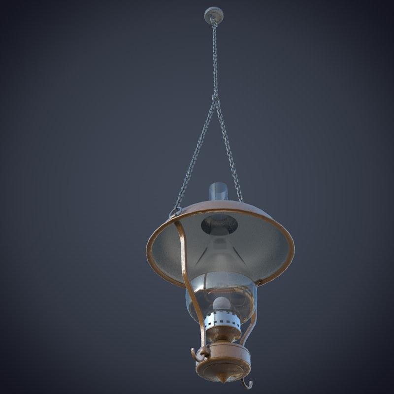 Hanging Kerosene Lantern Lamp Architectural Details