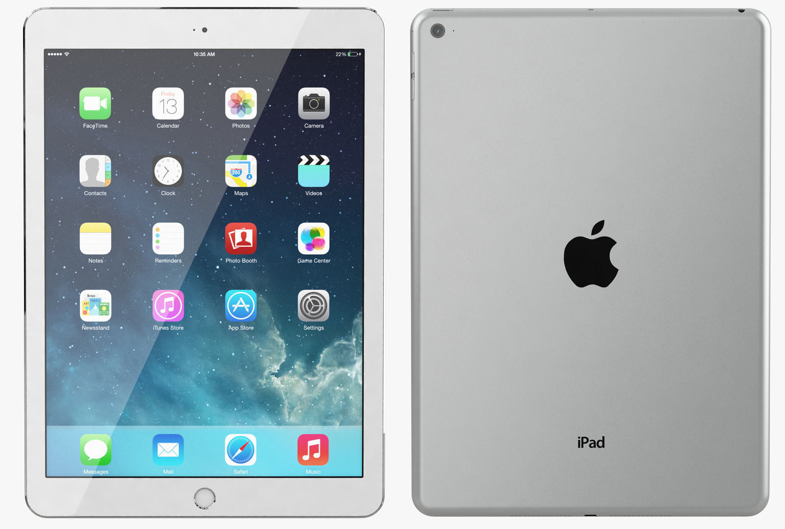 Apple iPad Air 2 Silver 3D Model MAX OBJ | CGTrader.com