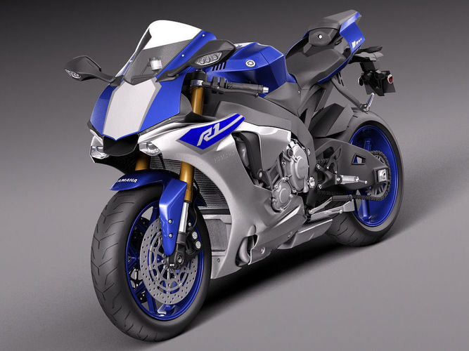 Yamaha yzf r1 2015 3d model max obj 3ds fbx c4d lwo lw lws for 2015 yamaha motorcycle models