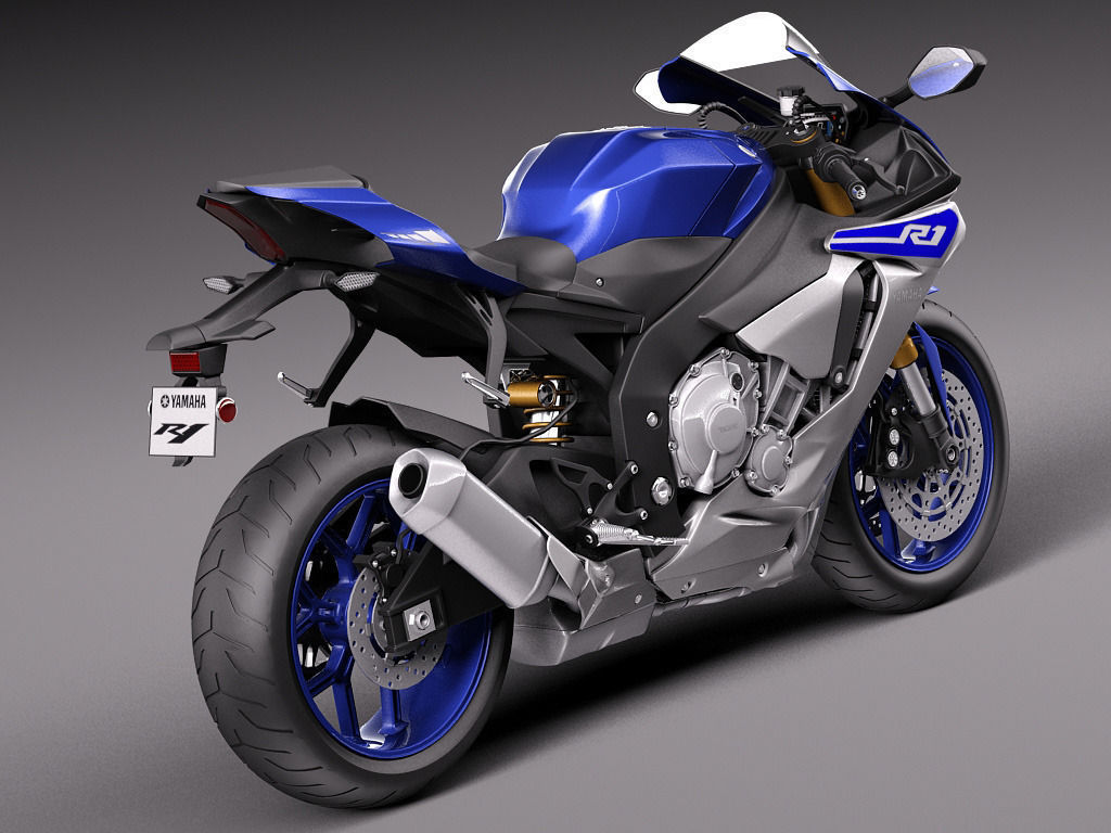 Yamaha yzf r1 2015 3d model max obj 3ds fbx c4d lwo for 2015 yamaha motorcycle models