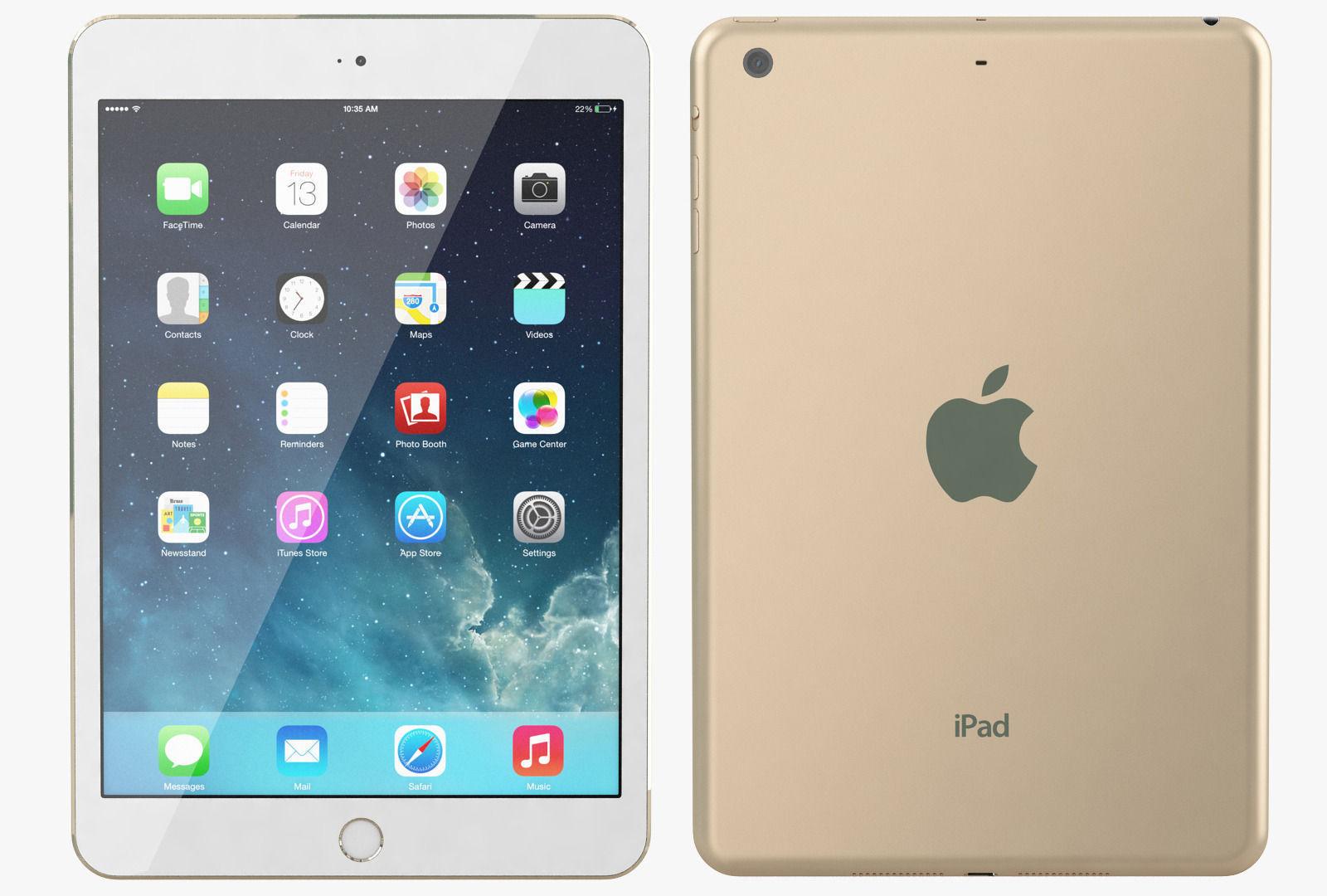 Apple iPad Mini 3 Gold 3D | CGTrader